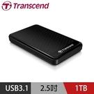 【南紡購物中心】創見StoreJet 25A3 1TB USB 3.1 2.5吋抗震行動硬碟(黑)