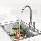 水槽廚房304不銹鋼水槽單槽套餐加厚洗菜...