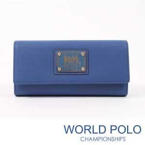 世界保羅WORLD POLO深色誘惑三折式多卡層長夾/海洋藍