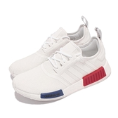 adidas 休閒鞋 NMD_R1 白 藍 紅 OG經典配色 BOOST 針織鞋面 三葉草 男女鞋 【ACS】 GZ7925