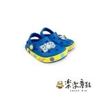 【樂樂童鞋】【台灣現貨】巴布豆星空圖案布希鞋-寶藍 C056 - 現貨 男童鞋 涼鞋 兒童涼鞋 小童涼鞋