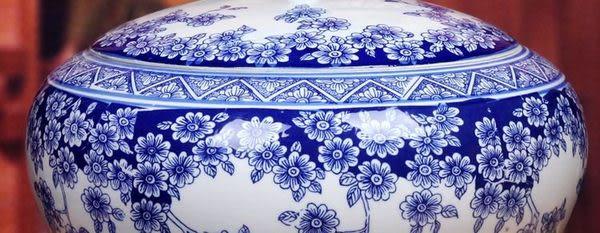 陶瓷青花儲物罐
