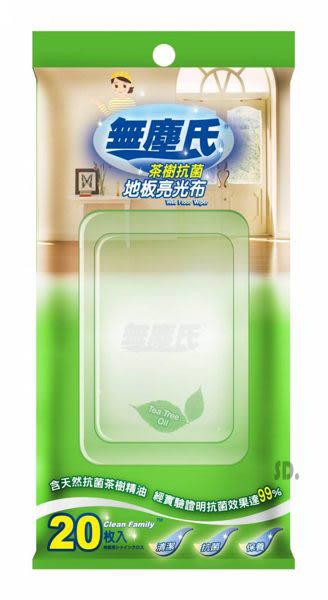 無塵氏-茶樹抗菌地板亮光布 20枚入