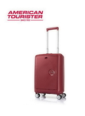 AT美國旅行者 20吋 Curio 前開式立體唱盤刻紋硬殼拉鍊箱 登機箱/旅行箱-(紅) AO8