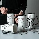 馬克杯 創意杯子陶瓷杯女可愛大容量馬克杯子學生情侶杯咖啡杯家用喝水杯 快速出貨