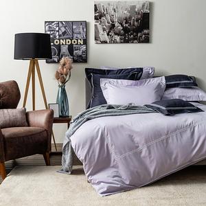 HOLA 艾維卡埃及棉刺繡被套 雙人 晨紫