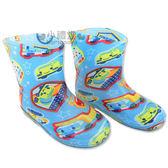 〔小禮堂〕RB 工程車兒童果凍雨鞋~藍星星多款車~尺寸16 18 20 4891582 5