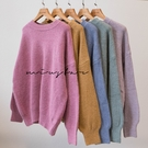MIUSTAR 天使般的顏色!圓領混色羊絨針織上衣(共5色)【NH2810】預購