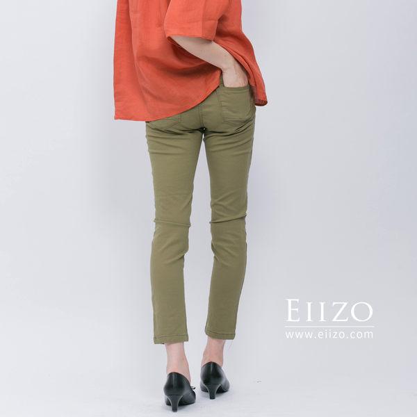 【EIIZO】彈力伸縮休閒褲(綠)