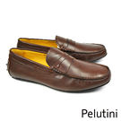 【Pelutini】紳士風時尚樂福鞋 深咖(8128-DBR)