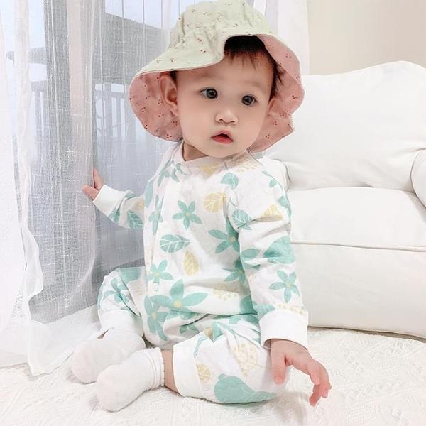 嬰兒哈衣爬服春秋寶寶連體衣純棉新生兒外出【聚可愛】