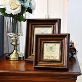 美式裝飾擺件復古相框擺檯創意掛墻7 10寸照片相片畫框裝裱『CR水晶鞋坊』