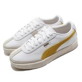 Puma 休閒鞋 Oslo-City PRM 白 黃 男鞋 女鞋 基本款 簡約 皮革 運動鞋 【ACS】 37480001