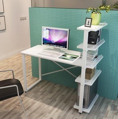 電腦桌現貨快出  90cm暖白色五層組裝電腦桌igo 限時6折盡在蜜拉貝爾
