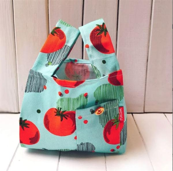半斤購物袋/草綠點【WaWu】