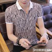 夏季男士短袖t恤潮流打底衫有領半袖POLO衫男裝韓版修身體恤衣服 印象家品旗艦店