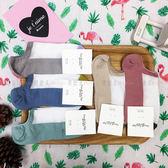 【KP】韓國 22-26cm 半透膚 撞色 可愛 色彩 灰 藍 綠 米 粉 短襪 成人襪 襪子 DTT1000026