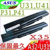 ASUS電池(保固最久)-華碩 P31SG,P31S,P31KI,P31K,P41,P41JF,P41SV,P41J,P41S,PRO35,A42-U31,A32-U31