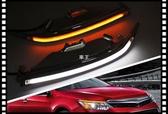 【車王小舖】豐田 Camry 7.5代 日行燈 晝行燈 燈眉改裝 電鍍款 帶轉向 導光版