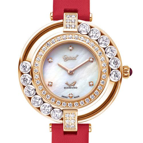 Ogival愛其華 流星系列-流光瀲灩珠寶錶-紅 380-45.1DLR