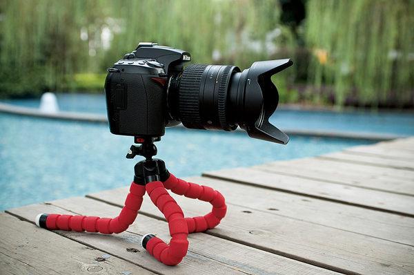 主播 自拍 攜帶型 章魚三腳架 任意彎曲 隨處可夾 相機腳架 手機支架 手機腳架 手機夾