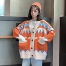 針織外套 小清新開衫慵懶風毛衣女秋冬外穿長袖韓版寬鬆上衣ins潮 - 雙十二交換禮物