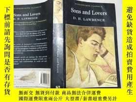二手書博民逛書店英文原版罕見SONS AND LOVERS 大32開Y11403 D.H. LAWRENCE wordswor