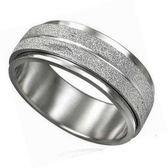晶鑽沙西德鋼戒指(轉運戒/鈦鋼戒) 《 美規6~11號》