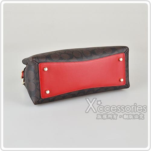 COACH LILLIE CARRYALL CANVAS 金字馬車LOGO PVC拉鍊手提斜背包 (多色)