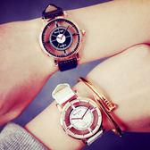 韓國超夯簡約鏤空時尚休閒流行男錶對錶女錶學生文青手錶皮帶手表[W032]