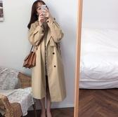 秋季新款風衣外套女中長款過膝時尚氣質外套