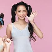 嬪婷-學生系列晶球牛奶M-3L細帶長版背心(清新灰)BT1162-FX