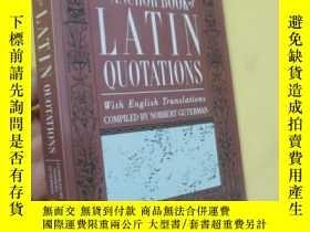 二手書博民逛書店英文原版罕見The Anchor Book of Latin Quotations by Norbert Gute