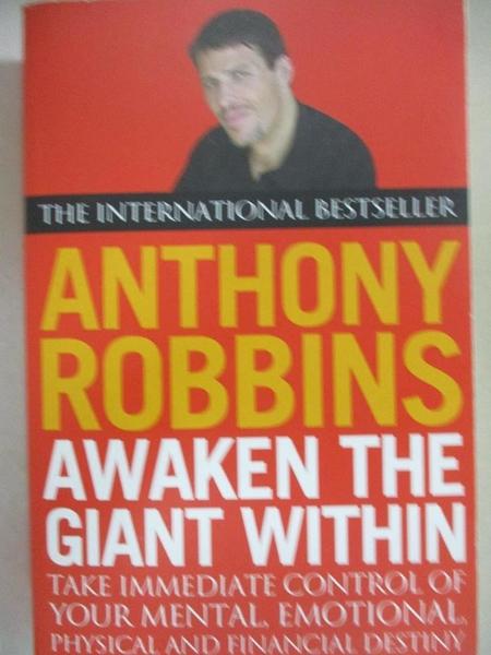 【書寶二手書T1/勵志_H1W】AWAKEN THE GIANT WITHIN._TONY. ROBBINS