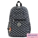 iBrand後背包 趣味派對尼龍口袋後背包-時尚幾何 TIB-1318-127