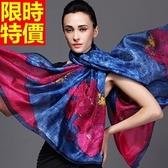 絲巾 真絲質女配件-桑蠶絲質感向日葵米蘭藝術氣息方巾2色67s45【巴黎精品】