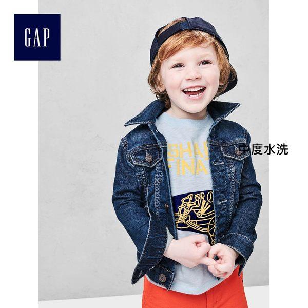 Gap男嬰幼童 深色水洗帥氣牛仔夾克 230925