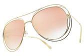 Chloe 太陽眼鏡 CE134S 794 (金-粉水銀漸層茶鏡片) 漸層造型款 墨鏡 # 金橘眼鏡