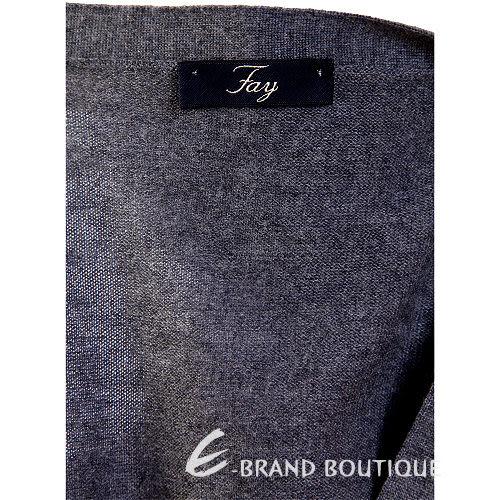 Fay 灰色針織釦式背心 1310296-06