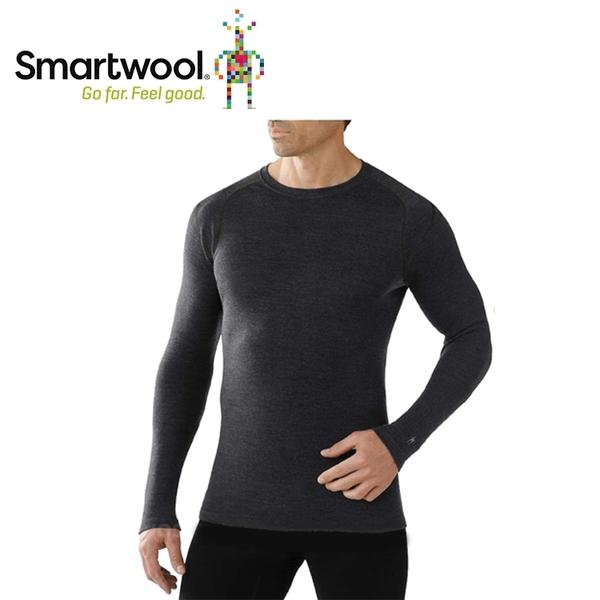 【美國 SmartWool 男NTS 250長袖衫《炭黑色》】SW0SS600/長袖衛生衣/登山健行/保暖圓領
