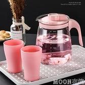 冷水壺耐高溫耐熱玻璃冷水壺防爆家用冷水杯涼水壺涼白開水壺套裝 現貨快出