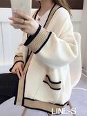 針織衫開衫女士毛衣2020年新款女裝寬松外穿秋冬百搭加厚上衣外套