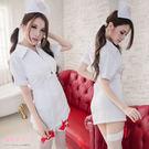 護士裝 前拉鍊連身裙 角色扮演白衣天使洋...