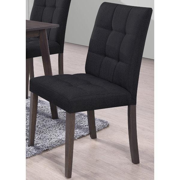 餐椅 SB-928-16 布丹胡桃黑皮餐椅【大眾家居舘】
