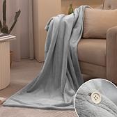 多功能萬用保暖披肩(灰) 毯午睡毯冷氣毯懶人毯【金大器】