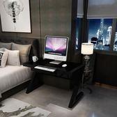 電腦桌組裝鋼化玻璃辦公桌子家用簡約現代寫字臺簡易書桌 WE523『優童屋』