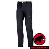【MAMMUT 長毛象】男 Runbold Zip 褲管可拆式長褲 0001『黑』1022-00500 休閒 釣魚褲 登山 露營 運動褲