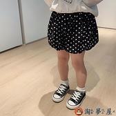 女童褲子兒童休閒短褲女寶寶寬鬆花苞褲【淘夢屋】