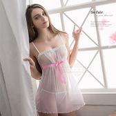大尺碼睡衣 Annabery純白天使性感二件式睡衣 緞面《SV6748》快樂生活網