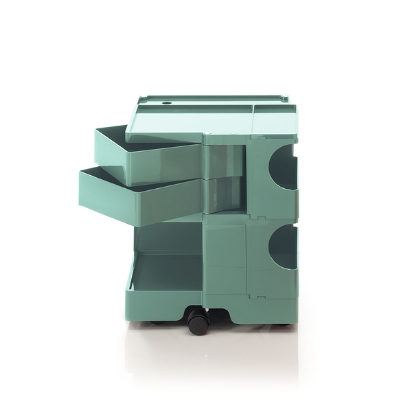 B-Line Boby Mod.S H52.5cm 巴比 多層式系統 收納推車 中尺寸款 - 黃綠特殊色系列 (湖水綠 - 雙抽屜)
